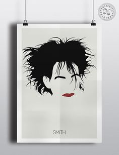 #minimalist #poster #posteritty #art #original #hair #music #robertsmith #cure