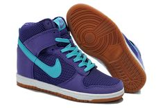 best website 11ada 73263 Nike Dunk Sky High Mesh Womens Dodger Blue Violet Purple  Cheap  purple   products cheap nike shoes