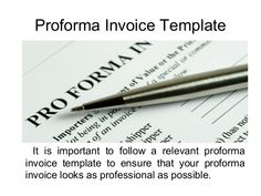Proforma Invoice Proformainvoice On