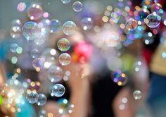 ♥ Bubbles.....once I bought a silver bubble blower from Tiffanys, climbed Mt. Fuji and blew bubbles on the tippy top :)