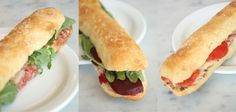 Thin European sandwiches from Proof Bakery