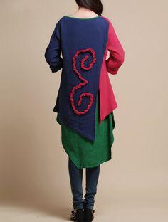 Cotton Loose fitting Women blouse shirt by MaLieb on Etsy