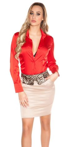 Business miniskirt with leoloop Hot Outfits, Fashion Outfits, Gothic Fashion, Pencil Skirt Outfits, Pencil Skirts, Satin Bluse, Satin Dresses, Corset Dresses, Hot Dress
