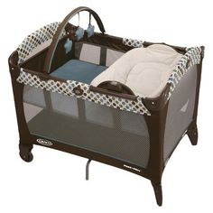 "Target ""Pack 'n Play"" Playard with reversible napper and changer. I really like pieces that can be adapted to multiple uses."