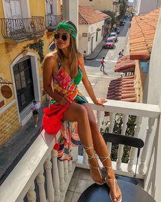 A cidade é bonita de todos os ângulos!!! Gracias, Cartagena 😘. Aqui é @salgunamu144 para todos os lados agora ❤️#cartagena Vacation Outfits, Summer Looks, Coachella, Wrap Dress, Cover Up, Instagram, Beach, Womens Fashion, Pictures