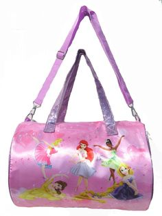 9c3b2598ff64 Amazon.com  Disney Princesses Girls Pink Dance Duffle Tote Overnight Bag -  Super Cute !  Toys   Games
