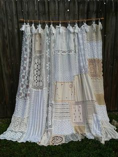 Cool & Unique shabby chic  Shower Curtain Ideas for Small Bathroom