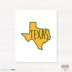 #Texas printout in #Baylor green and gold