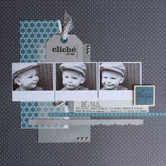 Scrapbook photo layout ideas: polaroids