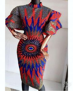 African Fashion Finests: Ankara Short Gown Styles - Women's style: Patterns of sustainability African Fashion Ankara, Latest African Fashion Dresses, African Dresses For Women, African Print Fashion, African Wear, African Attire, African Prints, African Style, Ankara Short Gown Styles