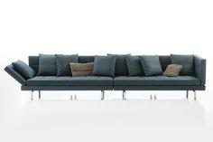 Die Amber von Brühl. Hier als breites Sofa, aus zwei Einzelteilen. The Amber sofa from Brühl.
