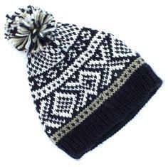 11dff04a762ca Urban Pipeline Blue Fair Isle Pom Beanie for Men - Winter Hat - One Size  Winter