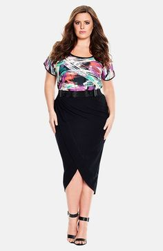 City Chic High/Low Wrap Skirt (Plus Size) available at #Nordstrom