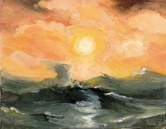 ARTFINDER: Storm At Sea by Rod Norman - Inspired by one of my favorite artists, this painting captured the awesome force and power of the sea in turmoil. I have always admired these great seascapes...