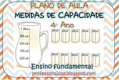Professora Juce: PLANO DE AULA - Medidas de capacidade