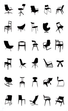 designer chair collection - 42 perfect 1/12 replicas cool