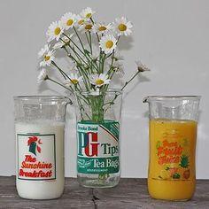 'Juice' Vintage Milk Bottle Jug