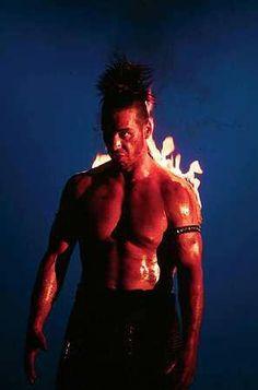 Till Lindemann - Rammstein  Till is hot enough to spontenously combust .