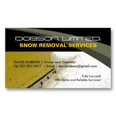 16 Best Snow Plowing Business Cards Images Business Cards Carte