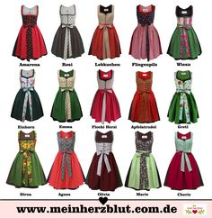 cute Dirndl Dresses Wiesn Oktoberfest                                                                                                                                                                                 More