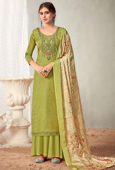 #Cotton #fabric is the #best #fabric in any #weathers, cotton #salwar #kameez is the best choice for any #girls or #womens, #Nikvik is the #bestseller of cotton salwar #suits in #USA #AUSTRALIA #CANADA #UAE #UK Lemon Green Colour, Pakistani Suits, Pakistani Dresses, Cotton Salwar Kameez, Palazzo Suit, Green Suit, Back Neck Designs, Green Cotton, Traditional Dresses