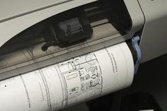 Large format printer for architecture work.