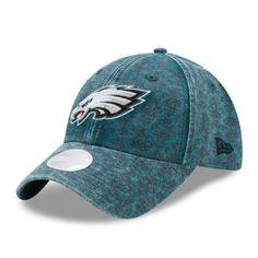 Philadelphia Eagles New Era Women s Vintage Flair 9TWENTY Adjustable Hat -  Midnight Green 461fb5052