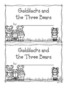 Goldilocks and the Three Bears Emergent Reader {Freebie} Bears Preschool, Preschool Themes, Preschool Printables, Kindergarten Activities, Book Activities, Preschool Projects, Art Projects, Fairy Tales Unit, Fairy Tale Theme