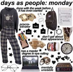 Days as peopl Lazy Outfits, Retro Outfits, Grunge Outfits, Cute Casual Outfits, Vintage Outfits, Fashion Outfits, Aesthetic Fashion, Aesthetic Clothes, Teen Trends