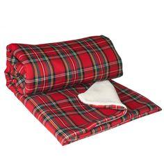Manta Escocesa Manta Roja Manta sofá Manta cama por WIKIPILLOW