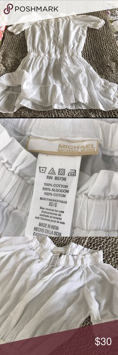 Michele Kors thin cotton cover up. White!!!! Perfect condition. Worn 4-5 times. Michael Kors Dresses Mini