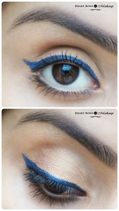 Blue Winged Liner With Neutral Eyes