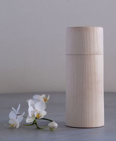 Wood canister via Løvfall. Click on the image to see more!