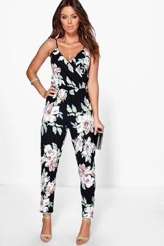 Fashion 2018 new arrival womens women ladies clubwear floral playsuit bodycon party jumpsuit trousers femme sleeveless clothes Day To Night Outfits, Summer Outfits, Cute Outfits, Outfit Night, Pretty Outfits, Stylish Outfits, Wrap Jumpsuit, Floral Jumpsuit, Floral Playsuit