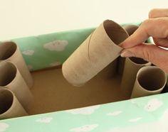 #Vaderdag: knutselen met papier. Zo maak je snel en simpel van een schoenendoos een pennenhouder #wc rollen
