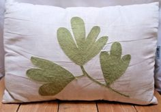 Apt 9 Embroidered Throw Pillow in X in White with Green Leaves Green Leaves, Home And Garden, Throw Pillows, Home Decor, Toss Pillows, Decoration Home, Room Decor, Decorative Pillows, Decor Pillows