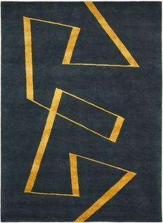 Deirdre Dyson large version of 'Zig-zag' carpet/rug
