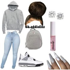 baddie outfits for school Boujee Outfits, Baddie Outfits Casual, Cute Lazy Outfits, Swag Outfits For Girls, Cute Outfits For School, Teenage Girl Outfits, Cute Swag Outfits, Teen Fashion Outfits, Dope Outfits