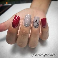 #loverednails❤️ citas al 89891153/22365064 Love Nails, Fun Nails, Pretty Nails, Short Square Nails, Neutral Nails, Creative Nails, Holiday Nails, Nail Tips, Nails Inspiration