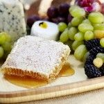 Honeycomb on a fruit and cheese plate- delicious!