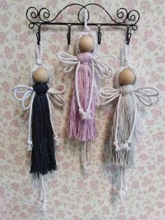 Macrame Design, Macrame Art, Macrame Jewelry, Christmas Angel Crafts, Felt Christmas Ornaments, Chores For Kids, Craft Sale, Crafty Craft, Diy Projects To Try