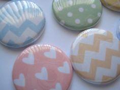 "15 Mixed Pattern Pastel hearts chevron grid Polka dot Images 1"" flat back buttons. 4.70, via Etsy."