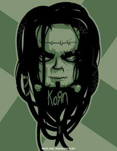 Korn Franken-Zombie by markwasyl on DeviantArt Rock Band Logos, Rock Bands, Korn, Hybrid Moments, Funny Tattoos, Heavy Metal Bands, Concert Posters, Movie Posters, People Art