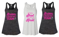 Bridesmaids tanks Bride's Drinking team Bridal party Bachelorette Party last fling before the ring Bella Flowy tank tops bride tank top