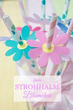 Strohhalm-Blumen by Decorize - Freebie