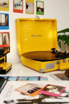 Crosley Cruiser Yellow Bluetooth Vinyl Record Player | Urban Outfitters