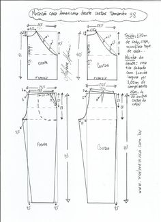 Comments In Topic Dress Sewing Patterns, Sewing Patterns Free, Sewing Tutorials, Clothing Patterns, Free Pattern, Sewing Projects, Sewing Pants, Sewing Clothes, Diy Clothes