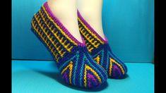 тапочки Crochet Slipper Pattern, Crochet Slippers, Baby Patterns, Knit Patterns, Knitting Socks, Free Knitting, Tunisian Crochet, Crochet Baby, Shoes