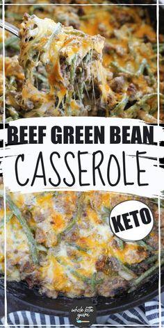 Hamburger Green Bean Casserole Healthy Low Carb Recipes, Low Carb Dinner Recipes, Keto Dinner, Keto Recipes, Kraft Recipes, Healthy Food, Yummy Food, Beef Casserole Recipes, Greenbean Casserole Recipe