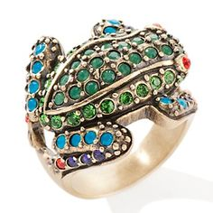 "Heidi Daus ""Fabulous and Flashy Tree Frog"" Crystal Ring at HSN.com.  One of my favorite rings I own. Always get compliments."